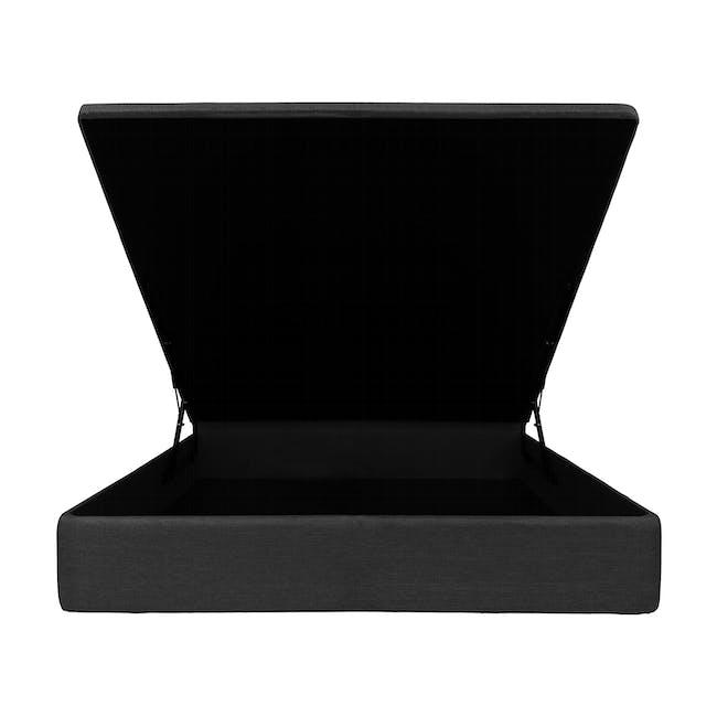ESSENTIALS Single Headboard Storage Bed - Smoke (Fabric) - 2