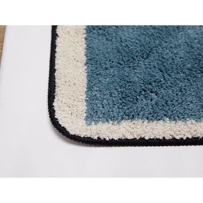 Scandi Waves Floor Mat - Turquoise - 3