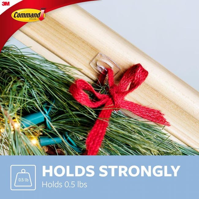 Command™ Clear Hooks with Clear Strips - Medium - 2