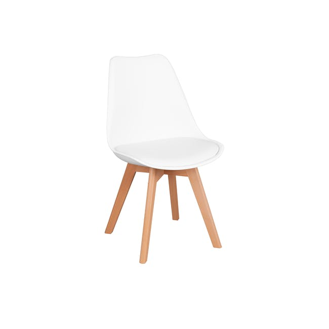 Jonah Extendable Table 1.4m in White with 4 Linnett Chair in Natural, White - 3