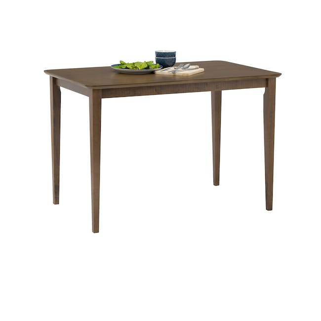 Charmant Dining Table 1.4m in Walnut with 4 Dahlia Dining Chairs in Caramel - 5