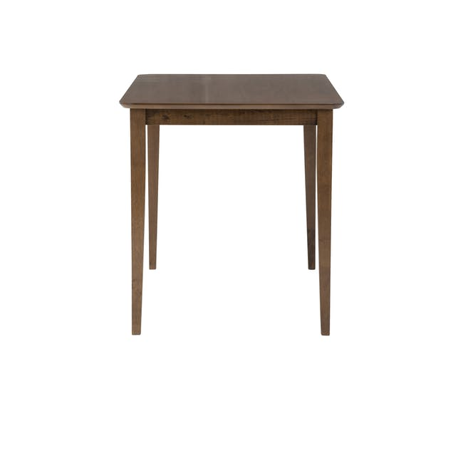 Charmant Dining Table 1.4m in Walnut with 4 Dahlia Dining Chairs in Caramel - 7