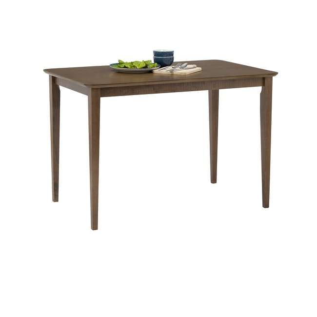 Charmant Dining Table 1.4m in Walnut with 4 Lana Dining Chairs in Velvet - 5