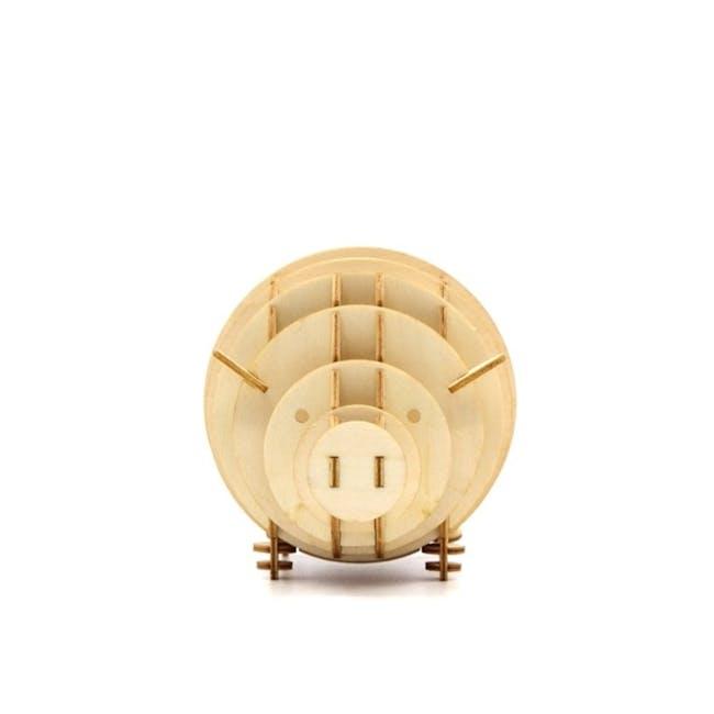 Jigzle Lifestyle Animal Piggy Coinbank 3D Wooden Figurine - 3
