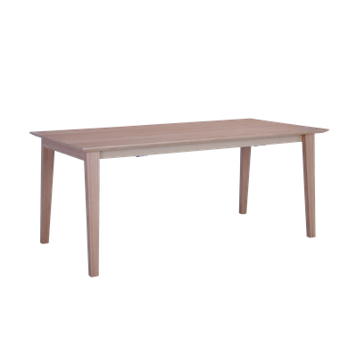 Kiros Extendable Dining Table 1.8m - Oak, White - Image 1