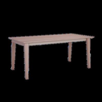 Kiros Extendable Dining Table 1.8m - Oak, White - Image 1