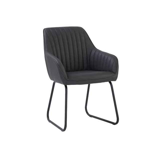 Edson Dining Armchair - Titanium (Faux Leather) - 0