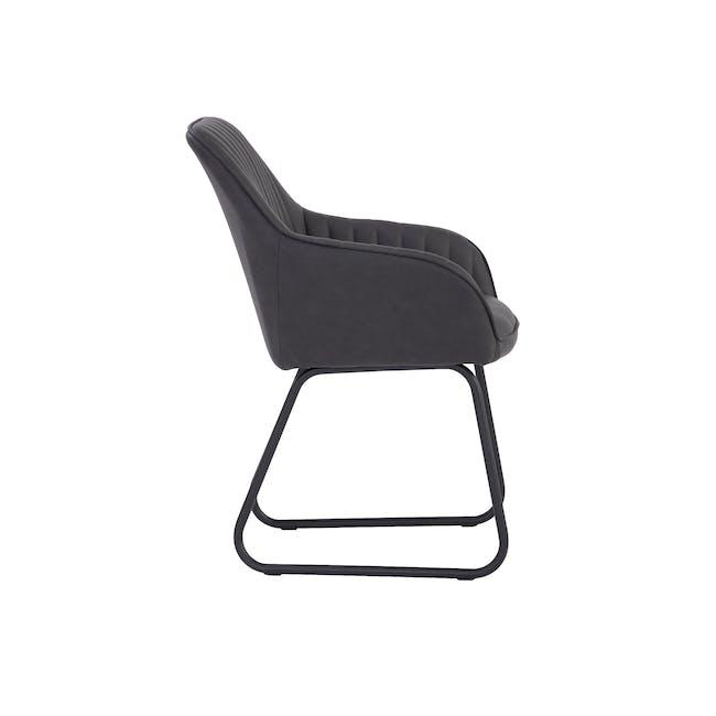 Edson Dining Armchair - Titanium (Faux Leather) - 2