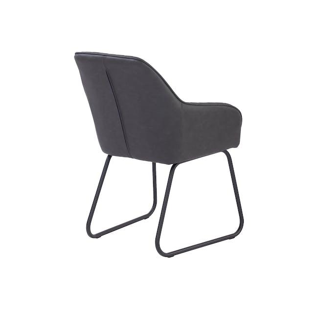 Edson Dining Armchair - Titanium (Faux Leather) - 3