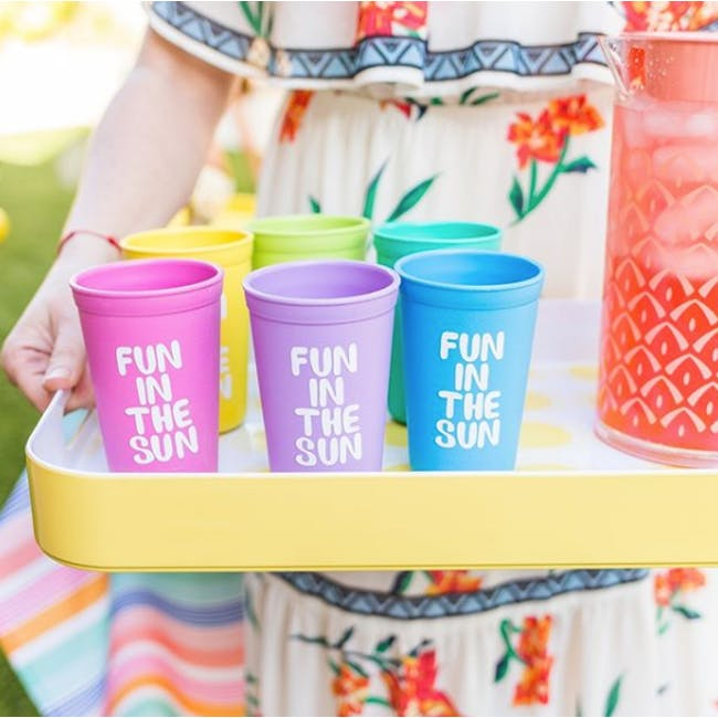 Re-Play 10oz Drinking Cup - Bright Pink - 1