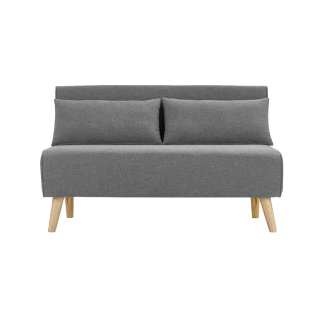 Noel 2 Seater Sofa Bed with Noel Sofa Bed - Harbour Grey - 1