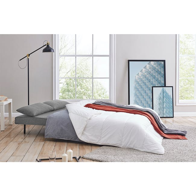 Noel 2 Seater Sofa Bed with Noel Sofa Bed - Harbour Grey - 2