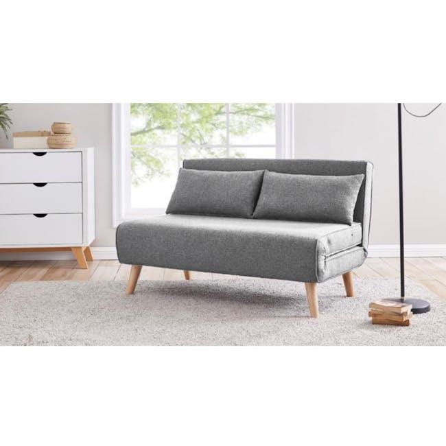 Noel 2 Seater Sofa Bed with Noel Sofa Bed - Harbour Grey - 3