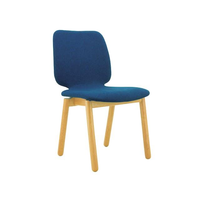 Missie Dining Chair - Oak, Midnight Blue - 0