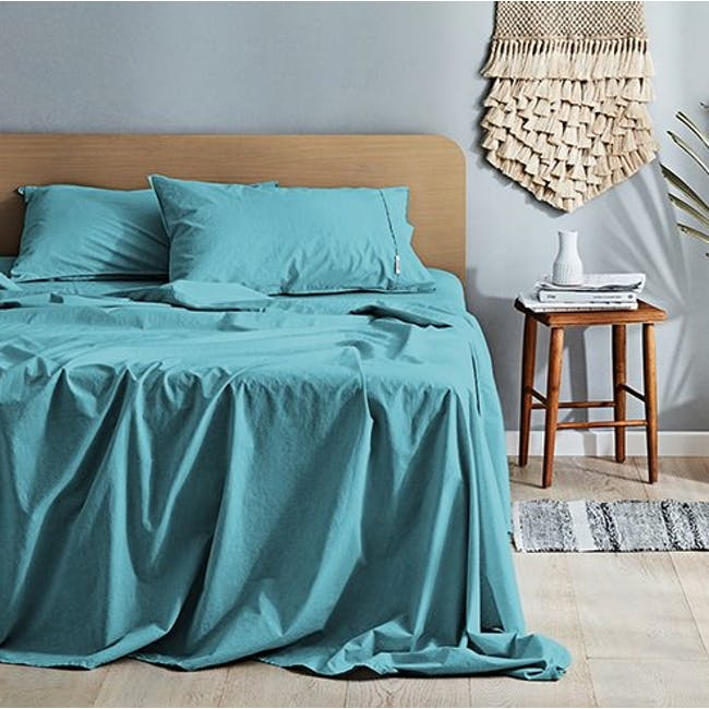 Canningvale Vintage Quilt Cover Set - Island Aqua (2 Sizes) - 0