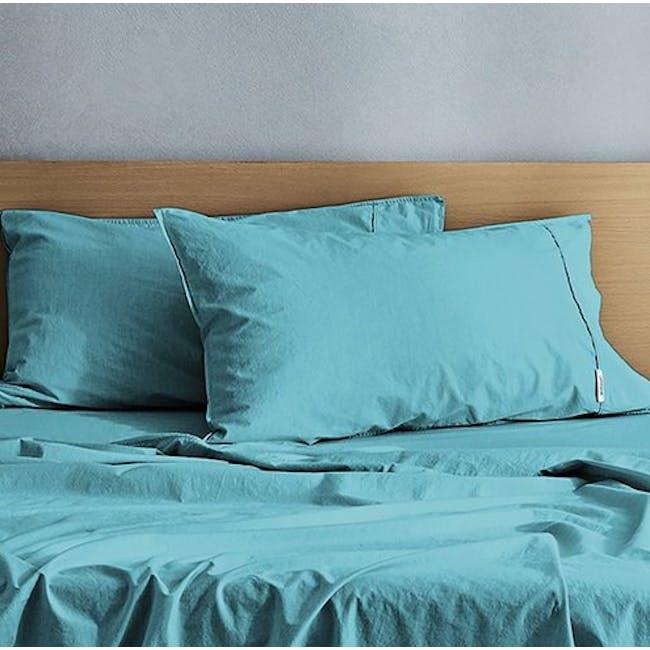 Canningvale Vintage Quilt Cover Set - Island Aqua (2 Sizes) - 1