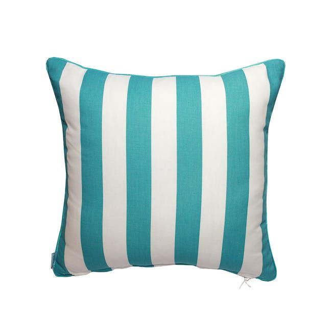 Coral Square Cushion - Aqua - 1