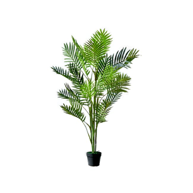 Potted Faux Areca Palm Tree 140 cm - 0