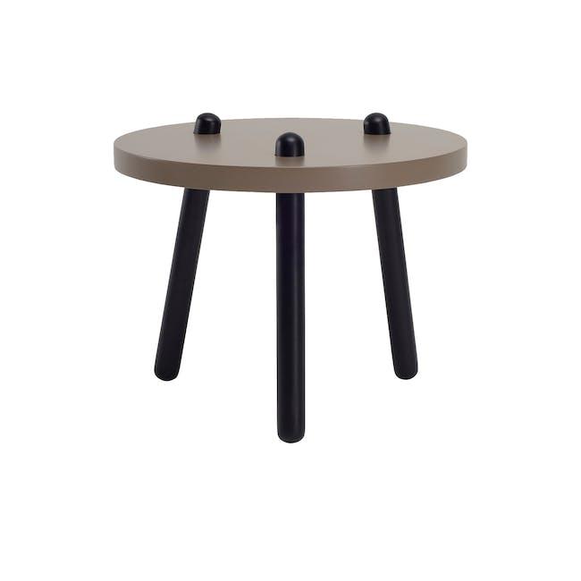 Kimi High Coffee Table - Dust Brown, Black - 0