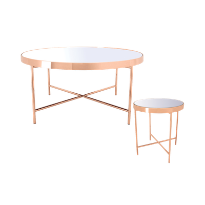 Xander Mirror Coffee Table with Xander Mirror Side Table - Image 1
