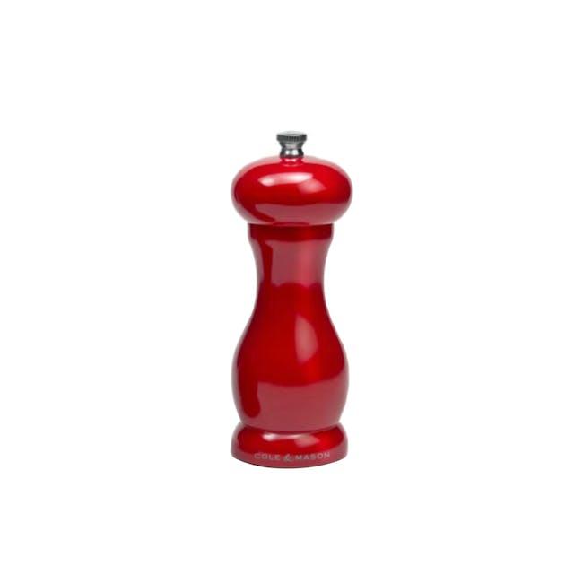 Cole & Mason Oxford Gloss Salt Mill - Red - 0