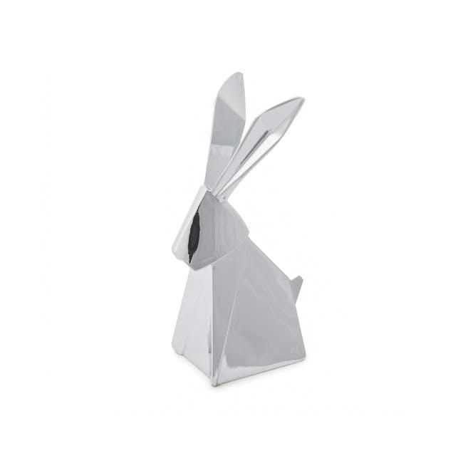 Origami Rabbit Ring Holder - Chrome - 1