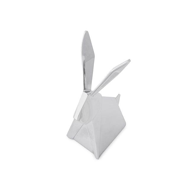 Origami Rabbit Ring Holder - Chrome - 4