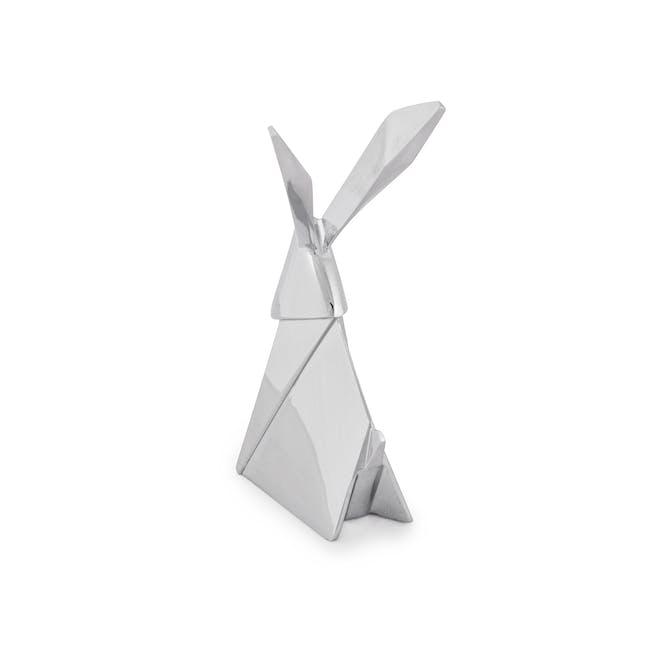 Origami Rabbit Ring Holder - Chrome - 5