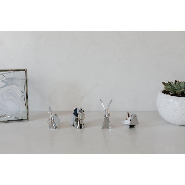 Origami Rabbit Ring Holder - Chrome - 7