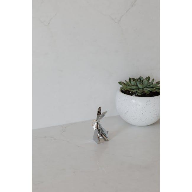 Origami Rabbit Ring Holder - Chrome - 6