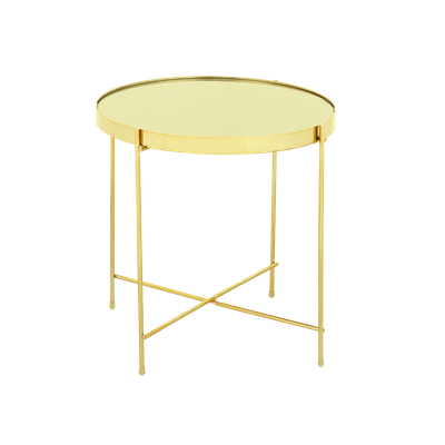 Chloe Round Side Table - Champagne - Image 1