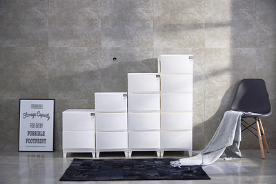 2-Tier 'Knock Down' Compact Cabinet - Image 2