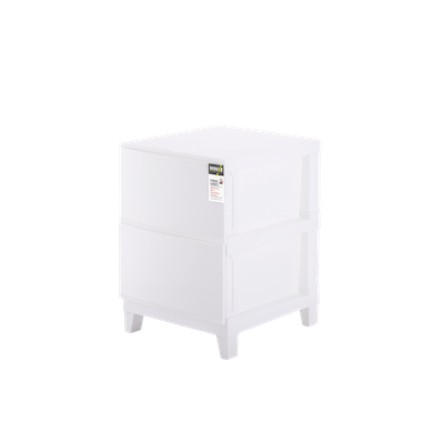 2-Tier 'Knock Down' Compact Cabinet - Image 1