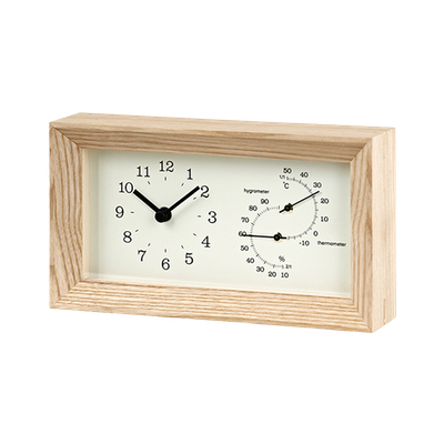 FRAME Table Clock - Natural - Image 1