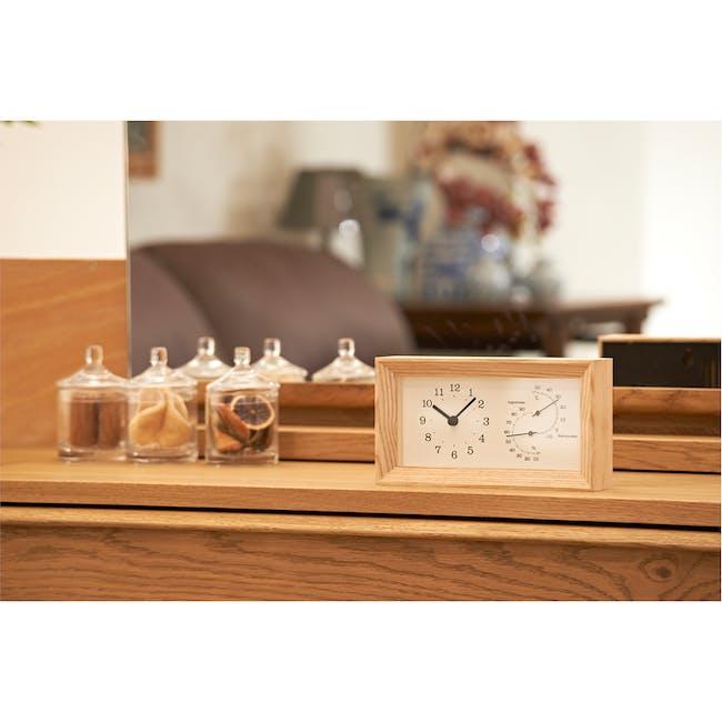 FRAME Table Clock - Natural - 1