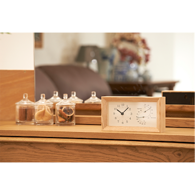 FRAME Table Clock - Natural - Image 2