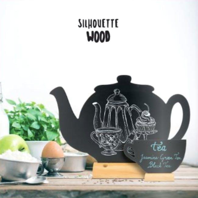 Securit Teapot-Shaped Table Chalkboard - 1