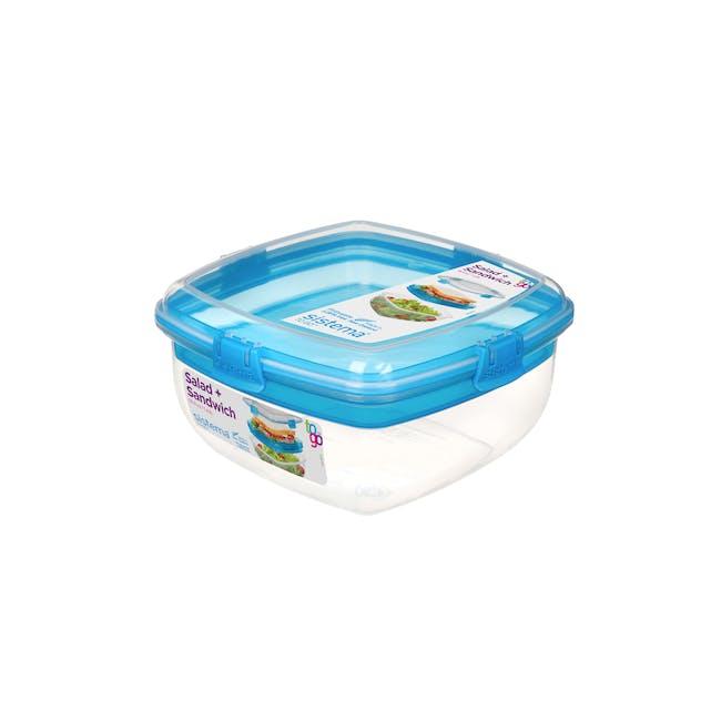 Sistema Salad N Sandwich To Go 1.63L -  Blue - 0