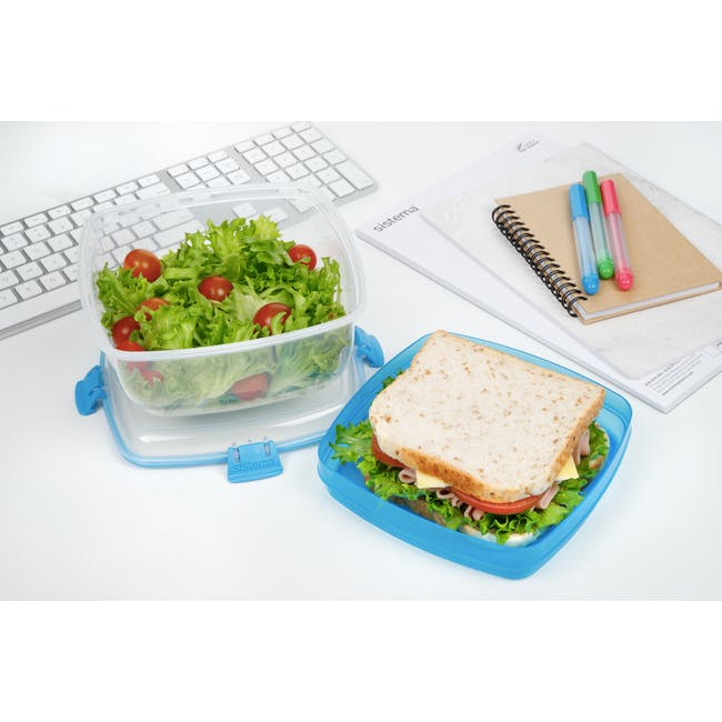 Sistema Salad N Sandwich To Go 1.63L -  Blue - 1