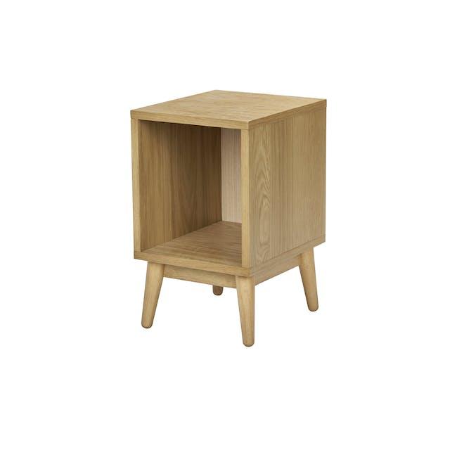Kyoto Single Shelf Bedside Table - Oak - 0