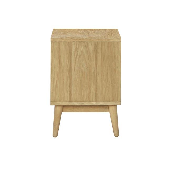 Kyoto Single Shelf Bedside Table - Oak - 3