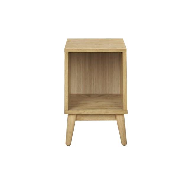 Kyoto Single Shelf Bedside Table - Oak - 2