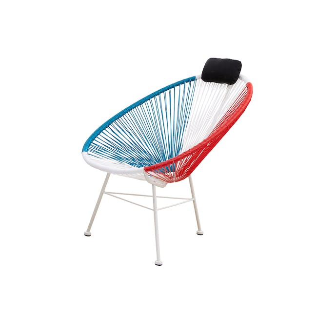 Acapulco Lounge Chair - Blue, White, Red Mix - 3