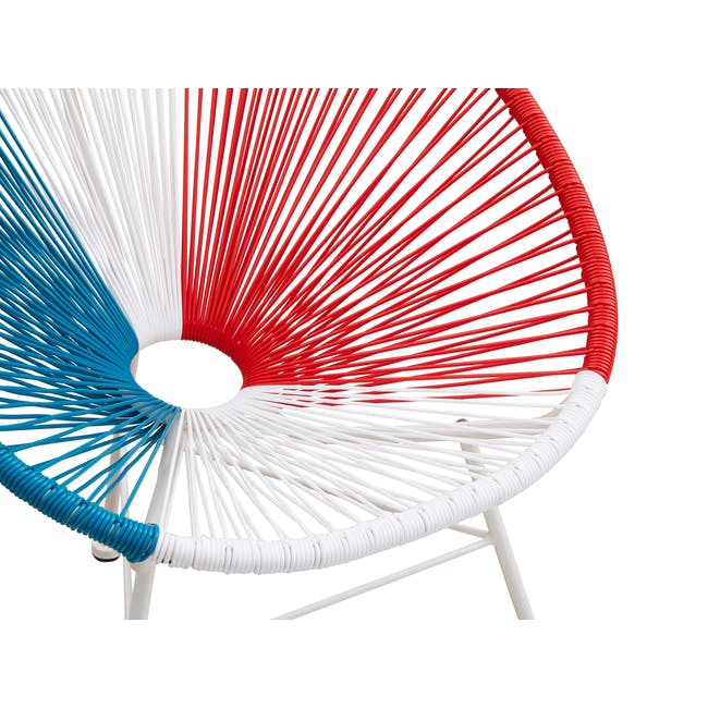 Acapulco Lounge Chair - Blue, White, Red Mix - 6