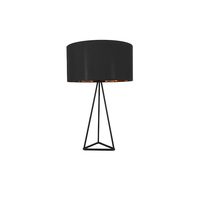 (As-is) Zoey Table Lamp - Black - 2 - 0