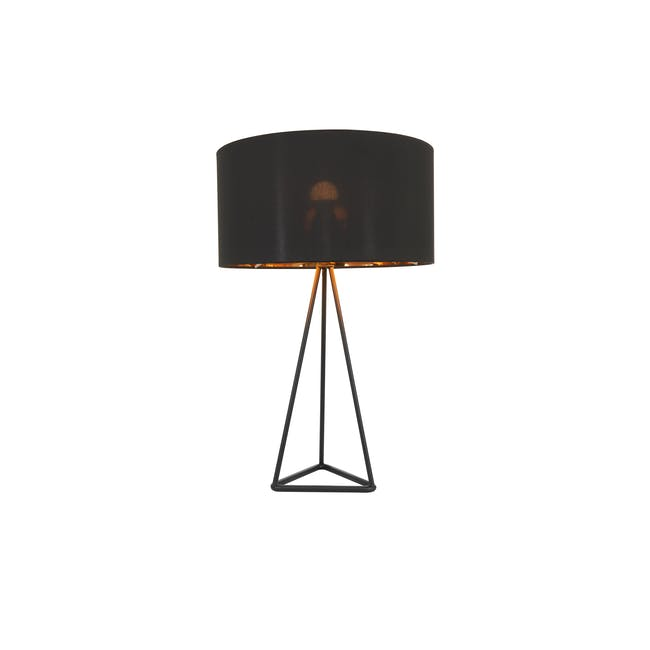 (As-is) Zoey Table Lamp - Black - 2 - 8