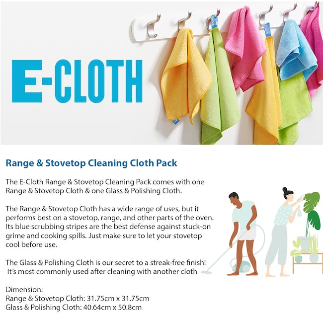 e-cloth Range & Stovetop Eco Cleaning Cloth Pack (Set of 2) - 3