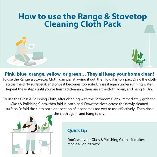 e-cloth Range & Stovetop Eco Cleaning Cloth Pack (Set of 2) - 5