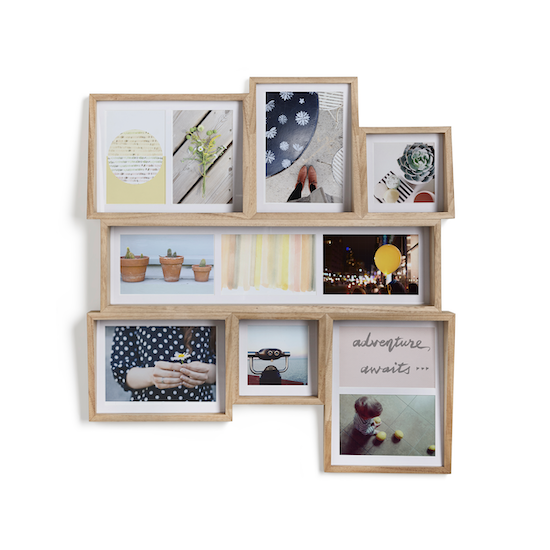 Umbra - Edge Multi Wall Photo Display - Natural