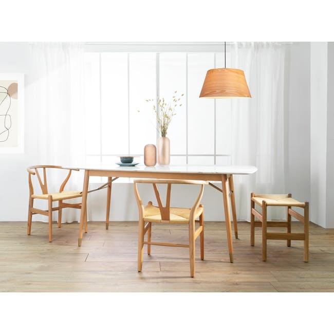 (As-is) Hagen Marble Dining Table 1.8m - 4 - 18